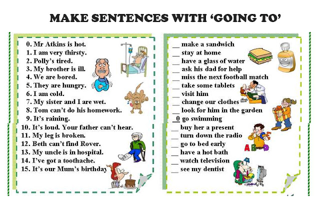 «going to sentences»