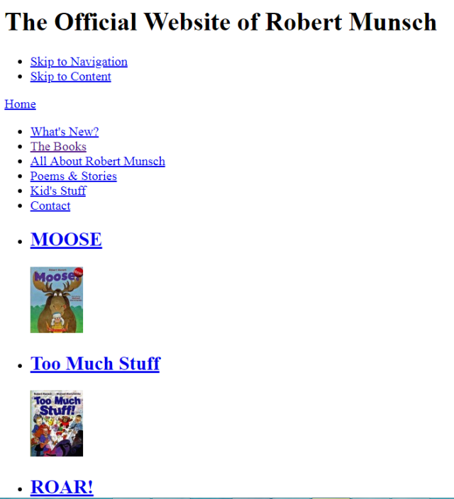 The Official Robert Munsch Site
